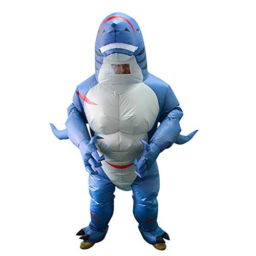 Inflatable Muscles Shark Costume Full body suit Air Blow up Costumes Fancy Party Dress Christmas Carry Funy Cosplay Outfit