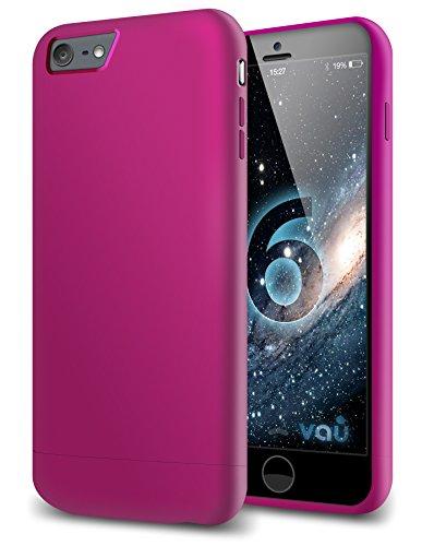 vau Snap Hülle Slider matt Purple - zweigeteiltes Hard-Hülle kompatibel zu Apple iPhone 6 (Hülle lila hart mit Innenfutter)