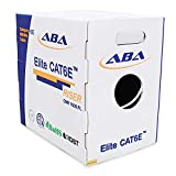 CAT6E Riser (CMR), 1000ft, UTP 24AWG, Solid Bare Copper, 600MHz, UL Certified, Easy to Pull (Reelex II) Box, Bulk Ethernet Cable in White