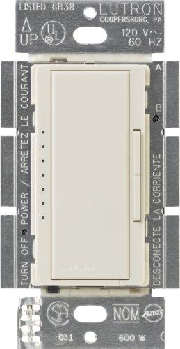 Lutron Maestro Electronic Low Voltage Digital Fade Dimmer Switch, Multi-Location, 600-Watt, MAELV-600-LA, Light Almond