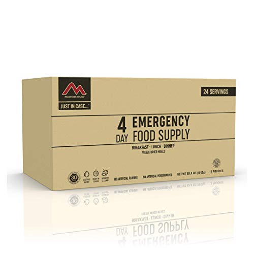 Mountain House 4-Day Emergency Food Supply | Freeze Dried Survival & Emergency Food | 24 Servings