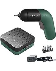 Sladdlös skruvdragare IXO från Bosch (sjätte generationen, grön, integrerat batteri med Micro USB-laddare, variabel varvtalsreglering, i förvaringslåda)