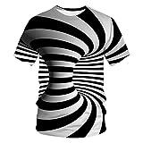 WBYFDC Camiseta Transpirable para Hombre Remolino Abstracto...
