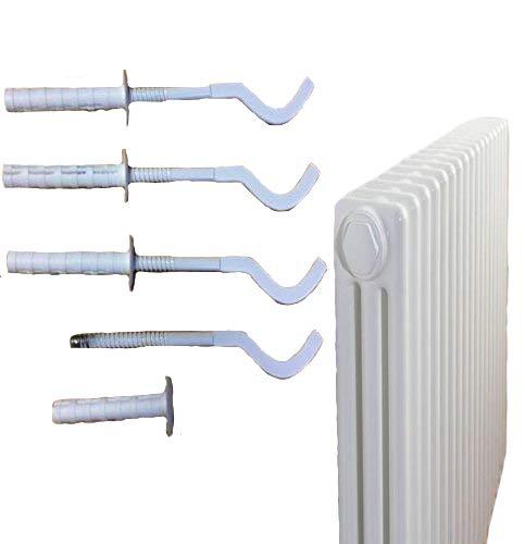 Universal-Wandhalterung für Heizkörper, Weiß, 4 Stück