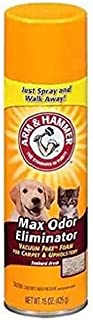 Arm & Hammer Max Odor Eliminator Vacuum Free Foam for Carpet and Upholstery, 15 oz