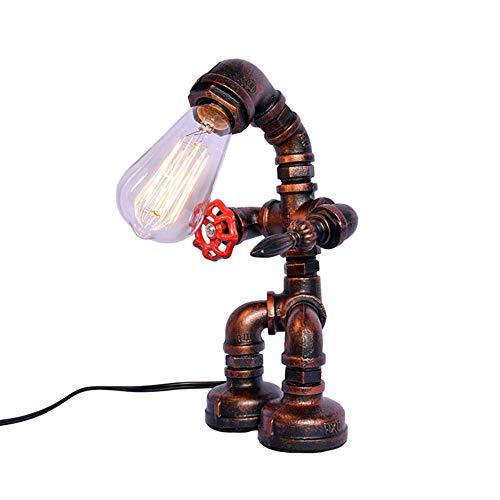 XZYP Rural Retro industrielle Windtischlampe, kreative Eisen Stehlampe, Wasserleitung Lampe, Tischlampe, Wohnzimmer Beleuchtung Lampe