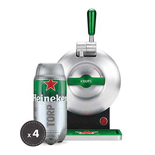 Heineken THE SUB Set Spillatura Domestica | THE SUB Spillatore Birra da Casa, Edizione Heineken | 4 x TORP Heineken Fustini di Birra da 2 Litri