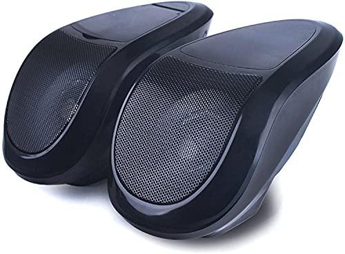 XZHFC 2pcs Motorcycle Altaventales Bluetooth Impermeable Stereo Audio AMP Sistema 12V Motocicleta Ponente De Coche MP3 Black