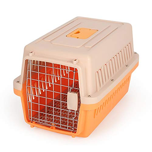 WyaengHai - Niche de transport pour chien ou chat 66 x 48 x 53cm Orange