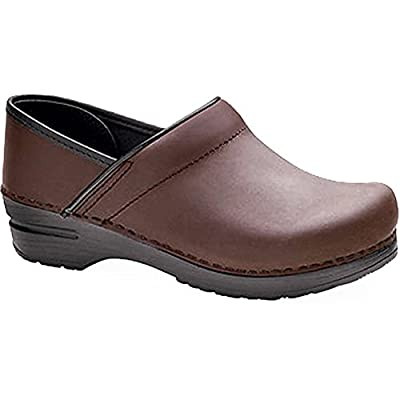 Dansko Stylish Narrow Pro Men Mules & Clogs Shoes, Elegant Footwear, Antique?Brown?Oiled, Size - 46