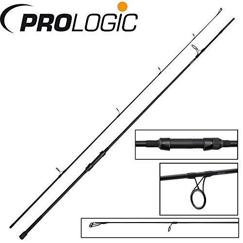 Prologic Custom Black 3,60m 3,5lbs Karpfenrute zum Karpfenangeln, Angelrute zum Angeln auf Karpfen, Grundrute für Karpfenmontagen