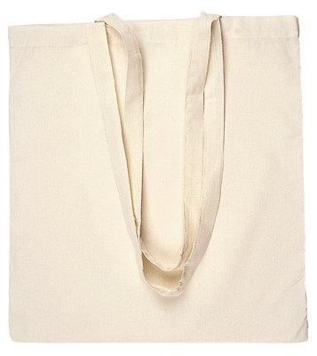 10 BORSE SHOPPER IN COTONE, colore beige, ideale per pittura su stoffa