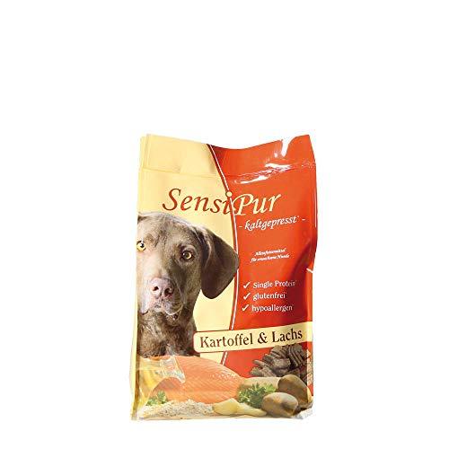 Schecker SensiPur® 1 x 1,5 kg Kartoffel und Lachs für den Hund - kaltgepresst optimales Trockenfutter für Adulte Hunde