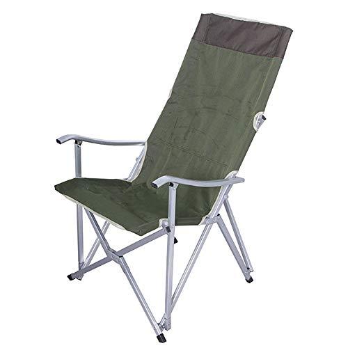 Folding chair Sillón reclinable para Exteriores Silla de Playa Plegable de aleación de Aluminio Ultraligera Silla de Pesca con Respaldo cómodo y de Ocio