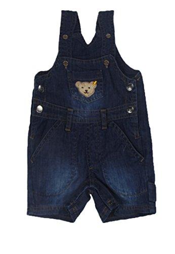 Steiff Baby-Jungen Latzhosen Latzshorts Blau (Dark Blue Denim 0012), Herstellergröße: 56