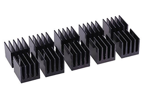 Alphacool GPU RAM Aluminium Kühlkörper 15x15mm - Schwarz 10 Stück