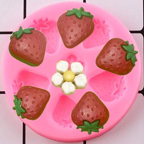 LNOFG Strawberry Silicone Mold Cake Fudge Mold DIY Cake Deco