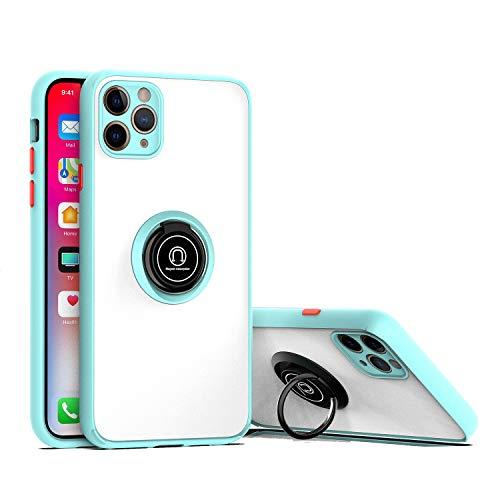 GOBY Coque iPhone 11 pro max Case Slim Fit TPU avec Support de Bague Silicone Gel Anti Mince Placage Bumper Housse Lustre Métal 360° Bague Support Téléphone Voiture Etui (4)