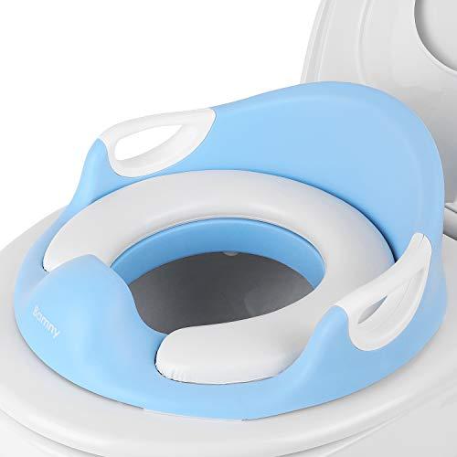 BAMNY Riduttore Water Bambini, Riduttore per WC Forma Ergonomica, con Braccioli, Imbottito, Schienale, Paraspruzzi, Base Antiscivolo