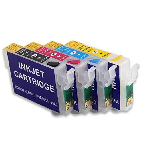 HEMEI - Cartucho de tinta recargable vacío con chip de