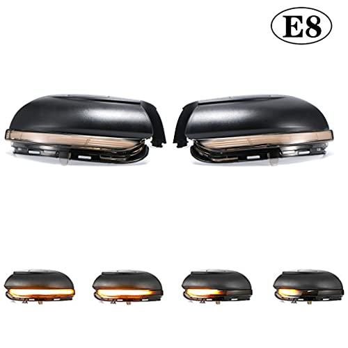 Paar Spiegelblinker Auto Dynamische LED Blinkerleuchten Rückspiegelleuchte Blinker für Golf MK6 GTI 6 R20 Touran MKVI (E8)