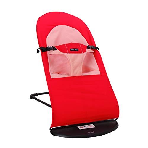 Summerone babywip schommelstoel, 3-positie recline, plat beeld vouwen, 3-punts riem, rood