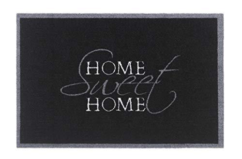 Bavaria Home Style Collection- Motiv Fußmatte Fussmatte Antirutschmatte Schmutzfangmatte Fußmatten - Verschiedene Design Motive - Sprüche Witzig Schön - Größe 40 x 60 cm (Sweet Home Black)