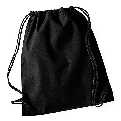 Westford Mill - Cotton Gymsac/Black/Black, 46 x 36 cm
