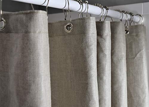Bean Products Baumwoll-Duschvorhang – Hanf – Leinen, Bio-Baumwolle, Badewannen- & Stallgrößen – Keine Einlage nötig – umweltfre&lich 54