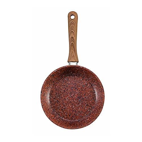 Venteo Copper Stone Pan – Sartén con Revestimiento de Granito de Alta tecnología Antiadherente y antiarañazos con Efecto Cobre, Fondo Inoxidable Compatible con Todos los Fuegos, 24 cm