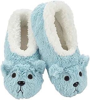 Slumbies! Womens Slippers - Indoor Slippers for Women - Comfortable House Slippers for Women - Fuzzy Slippers -Bear