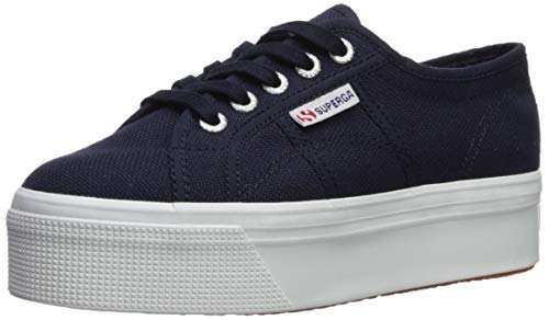 Superga womens 2790 Platform Sneaker, Navy, 7.5 US