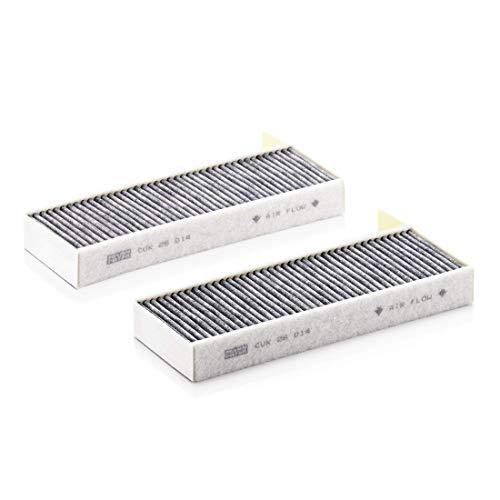 Originale MANN-FILTER Filtro Abitacolo CUK 26 014-2 – Set di filtri abitacolo (set da 2) con carboni attivi – Per Auto