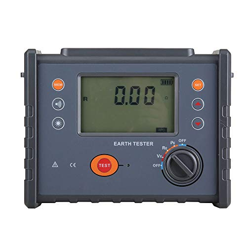 YEZIQ - FR3010E Ground Resistance Soil Resistivity Meter Four-Wire Grounding Resistance Tester The Soil Resistivity Tester Digital Meter Multimeter