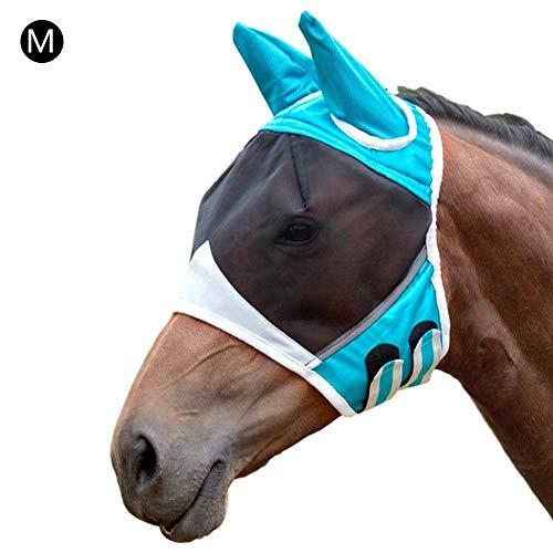 popchilli paardenvliegenmasker met ogen, mesh-masker beschermt effectief gezicht en ogen tegen vliegen en uv-stralen terwijl volledige zichtbaarheid ademend aantrekkelijk is