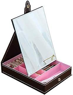 HD Mirror Makeup Mirror Does Not Deform Not Color Cast Desktop Mirror Easy to Clean Portable Vanity Mirror 18x24cm (Color : Black, Size : 24CM Long 18CM Wide) (Color : 24cm Long 18cm Wide Black)