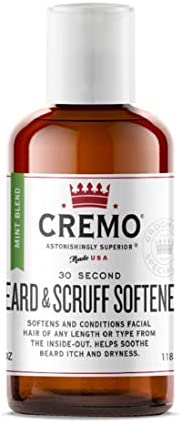 Cremo Cedar Forest Beard & Scruff Softener, Softens and Conditions Coarse Facial Hair of all Lengths in Just 30 Seconds, 6 Oz.