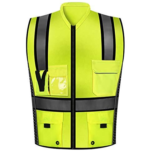 Heren/Woman's Jacket Safety Vest voor Sport, Fietsen Fiets Riding Motorfiets Jogging Kleding met Meerdere Zakken