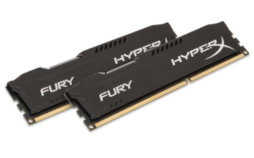 HyperX HX316C10FBK2/16 Fury Schwarz Arbeitsspeicher, DDR3, 16GB (Kit 2x8GB), 1600MHz, CL10, 240-pin UDIMM