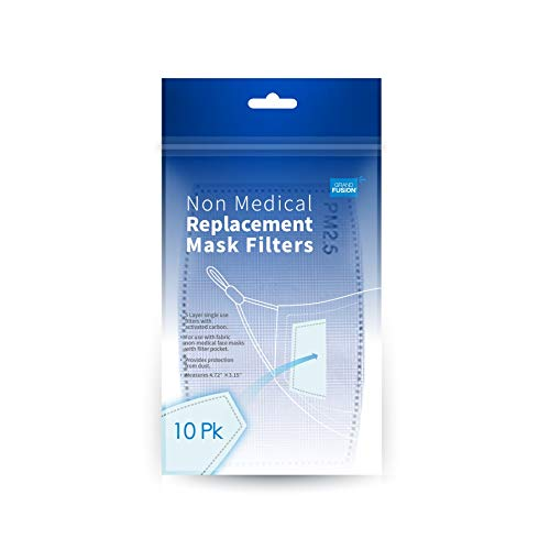 Replaceable Face Mask Air Filters For Washable Reusable Cloth Face Masks. Universally Fit in Any Sized Protective Nose and Mouth Covering With a Pocket For Best Protection (10)