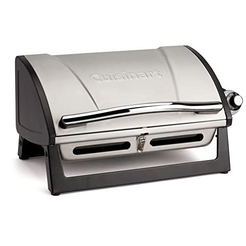 "Cuisinart CGG-240 All Foods, 27.3"" L x 38"" W x 23.5"" H, Roll-Away Gas Grill, Stainless Steel 3"