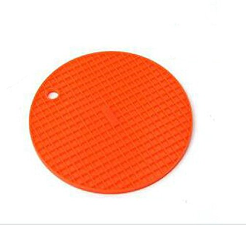 CAOLATOR Dessous de Verre en Silicone Table Mats Anti-dérapant Résistant à la Chaleur de Table Mats Orange