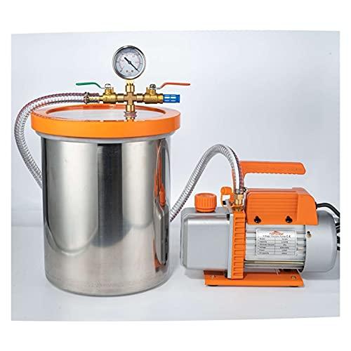 CHENGSYSTE Bomba de la Bomba de la cámara de vacío Bomba de vacío con cámara de vacío de 3 galones y acondicionador de Aire Herramienta de Aire de refrigerante Kit de Bomba by (Color : 110V)