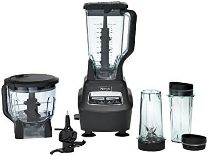 Ninja BL770 Mega sistema de cocina y licuadora con jarra de trituración total, cuenco para procesador de alimentos, hoja de masa, tazas para llevar, base de 1500 W, color negro