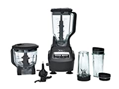 72 ounce total crushing pitcher pulverizes ice to snow in seconds for creamy frozen drinks and smoothies; 2 Horsepower Eight cup food processor bowl provides perfect, even chopping and makes upto 2 lbs of dough in 30 seconds Two 16 ounce Nutri Ninja ...