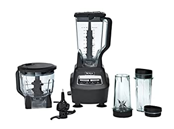 Ninja BL770 Mega Kitchen System and Blender with Total Crushing Pitcher Food Processor Bowl Dough Blade to Go Cups 1500-Watt Base Black
