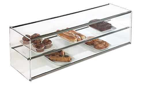 Vitrina expositora alimentos, ideal barra bar para los aperitivos, 2 pisos, cristal recto