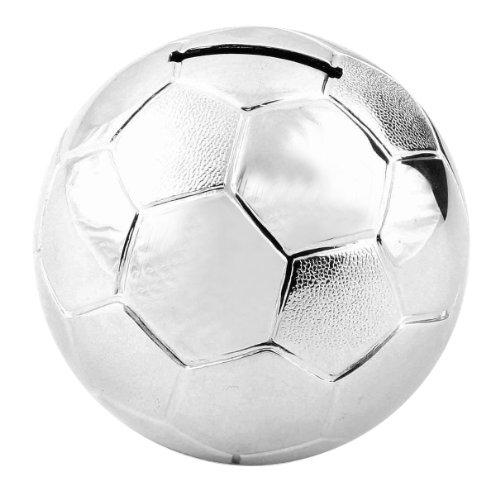 Taufe Geschenke - versilbert Soccer / Football Money Box [Spielzeug]