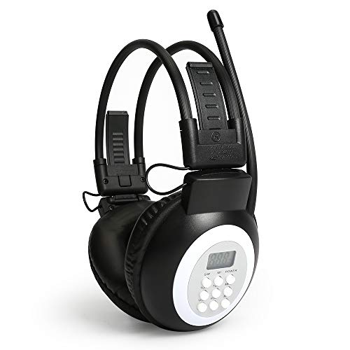 Portable FM Radio Headphones Ear Muffs, Battery Operated Personal Wireless Headset FM Radio Receiver for Walking, Jogging, Outdoor (Battery not Included)