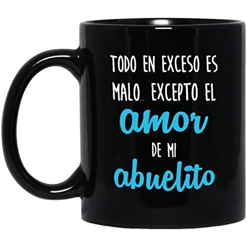 N\A El Amor de Mi Abuelito - Feliz Dia del Padre (Abuelito) - Regalo del día del Padre de la Hija - Taza de café del día del Padre para el Abuelo (en español)